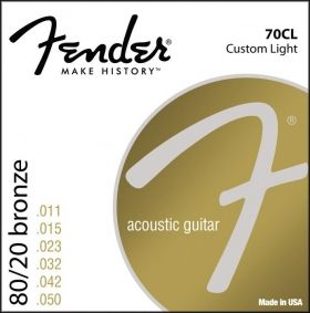 Fender 70CL 80/20Bronze W Ball End 11-50